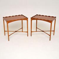 Pair of Antique Sheraton Style Satinwood Side Tables