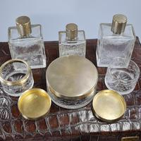 Exceptional Asprey HM Silver Gilt Fittings in Leather Case c.1935 (2 of 27)