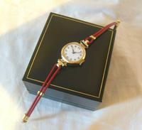 9ct Gold Ladies Wrist Watch 1934 Swiss 15 Jewel Porcelain Dial Red 12 FWO (5 of 12)