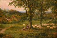 """Oil Painting by Mark Edwin Dockree """"Pastoral scene near Dedham"""" (4 of 5)"""
