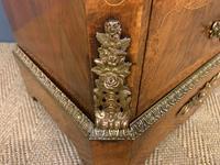 Pair of Victorian Burr Walnut Pillar Chests (10 of 18)