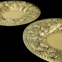 Magnificent Georgian Pair of Solid Silver Gilt Charger / Platter Dishes - George Burrows 1824 (14 of 27)