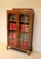 Walnut Chinoiserie Decorated Bookcase (7 of 10)