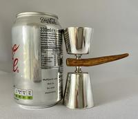 Art Deco Silver Plated Double Ended Spirit Measure c.1930 (4 of 5)