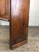 Antique Victorian Pitch Pine Curved Back Pew or Settle (6 of 16)