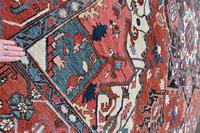 Fine Antique Heriz Room-size Carpet 389x283cm (8 of 11)
