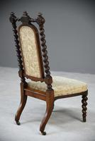 Walnut Barley Twist Bedroom Chair (10 of 13)