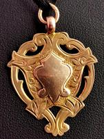 Vintage Art Deco 9ct Gold Shield Fob (6 of 9)