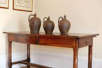 19th Century French Refectory Style Table with pull-out bread board