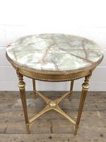 Gold Gilt Table with Circular Onyx Top (6 of 11)