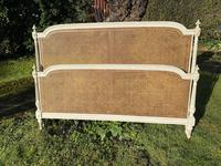 Kingsize Painted & Caned French Bed (7 of 9)