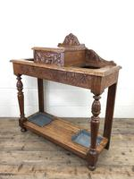 Antique Victorian Carved Oak Hall Stand (8 of 14)