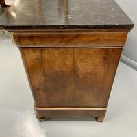 Figured Walnut and Marble Top Commode (10 of 13)