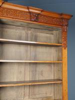 Antique Victorian Golden Oak Open Bookcase (9 of 20)