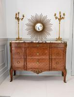 Late 19th Century French Gilt Bronze Mounted Tulipwood & Kingwood Marble Topped Commode (6 of 10)