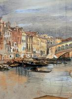 Large Early 1900s Venetian Venice Landscape Watercolour Study Sketch Painting (7 of 14)