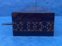 William IV Rosewood Glove Box with Stick Ware & Tunbridge Ware (7 of 14)