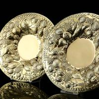 Magnificent Georgian Pair of Solid Silver Gilt Charger / Platter Dishes - George Burrows 1824 (2 of 27)