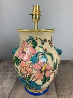 Victorian English Floral Vase Table Lamp, Rewired & Pat Tested (10 of 15)
