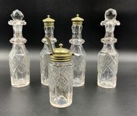 Fabulous Quality 19thc Victorian Silver Plated Cruet Set Inc 5 Cut Glass Bottles (4 of 12)