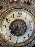 Brass Cased 'Green Man' Mantel Clock (3 of 6)
