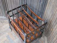 Rosewood Canterbury/ Magazine Rack by Holland & Sons (6 of 6)