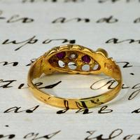The Edwardian 1902 Scroll Gallery Ruby & Diamond Ring (4 of 4)