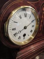 Top Quality Antique Inlaid Clock Barometer (8 of 10)