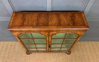 Good Burr Walnut Glazed 2 Door Bookcase (3 of 15)