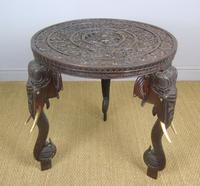 Anglo Indian Carved Elephant Table Early 20th Century (7 of 11)