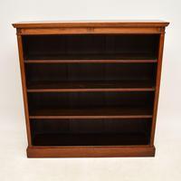 Antique  Victorian  Walnut Open Bookcase (12 of 12)