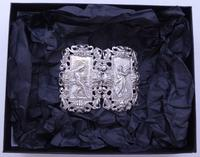 Rare Edwardian Shakespeare 1904 Hallmarked Solid Silver Nurses Belt Buckle (10 of 10)