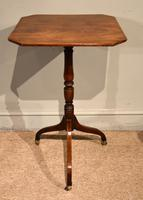 George III Mahogany Tripod Table Brass Casters (2 of 5)