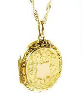 Antique 9ct Gold Hallmarked Photo Locket 1915