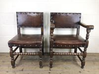 Set of Six Oak & Leather Dining Chairs (4 of 23)
