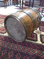 Coopered Brass Bound Peat Bucket (3 of 5)