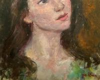 Wonderful Vintage Oil Portrait Painting of Italian Beauty from Maddalena (9 of 10)