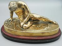 Beautiful Antique Dying Gaul / Gladiator Brass Sculpture