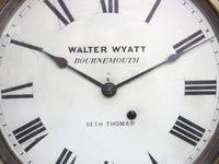 Impressive Victorian American Drop Dial Wall Clock 8 Day Movement Seth Thomas (11 of 12)