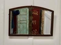 Carved Oak Arched Frame Mirror (3 of 4)