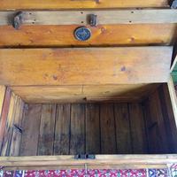 Antique Victorian Pine Chest Rustic Industrial Wooden Trunk + Key + Original Interior (10 of 12)