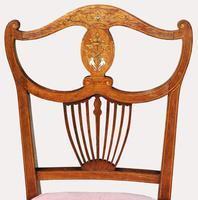 Victorian Inlaid Nursing Chair in Rosewood (4 of 6)