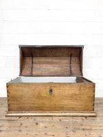 19th Century Antique Oak Dome Top Trunk (5 of 13)
