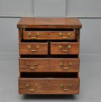 Small Georgian Mahogany Bachelors Writing Chest of Drawers with Provenance (5 of 24)