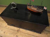 Antique Black Chest Trunk Storage Box, Ebonized finish, Gothic (15 of 18)