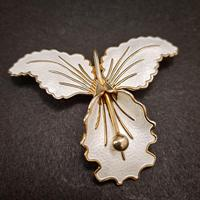 Silver & Enamel Orchid Brooch (2 of 4)