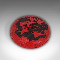 Antique Cinnabar Box, Chinese, Lacquer, Decorative Tray, Qing Dynasty c.1900 (5 of 12)