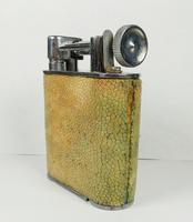 Rare Stunning Unique Art Deco Shagreen Lift Arm Lighter c.1930 (4 of 13)