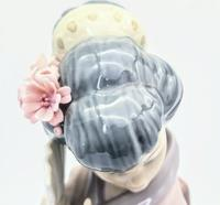 Large Lladro Porcelain Geisha Figurine Holding Two Fans (3 of 11)