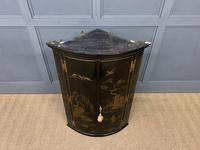 19th Century Chinoiserie Corner Cupboard (2 of 6)